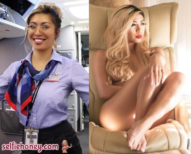 sexyflightattendant - Sexy Flight Attendant Selfie